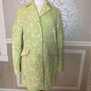 Anne Taylor size 12 long topper blazer floral